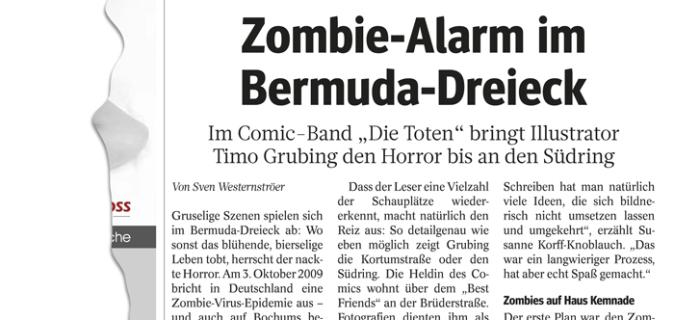"""""""Zombie-Alarm im Bermuda3Eck"""" WAZ, 05.12.15"""