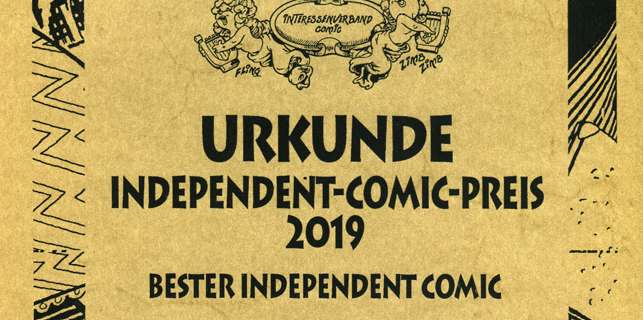 "ICOM 2019 ""Bester Independet Comic"""